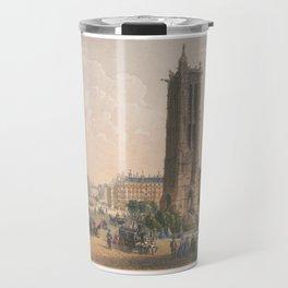 Paris art print Paris Decor office decoration vintage decor TOUR SAINT JACQUES of Paris Travel Mug