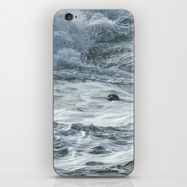 Staying Afloat in a World of Turmoil iPhone Skin
