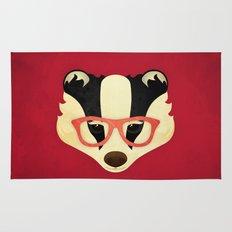 Hipster Badger: Red Rug