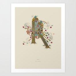 Celtic Initial K Art Print