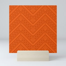 Tipi's (Orange) Mini Art Print