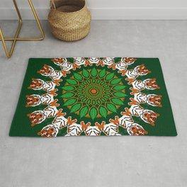 Tiger Time Mandala Design Rug