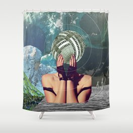 atmosphere 45 · in a gadda da vida Shower Curtain