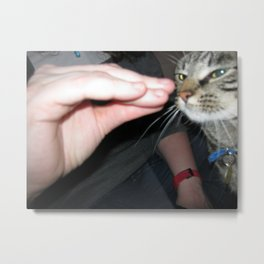 Talk to Hand Rocco Metal Print