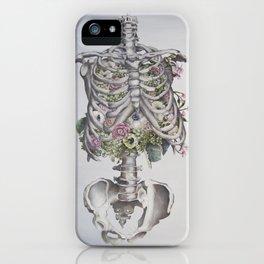 Floral Anatomy Skeleton iPhone Case