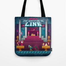 The Link Adventure of Zelda, too Tote Bag