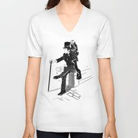 victorian V-neck T-shirts featuring Victorian by Cassandra Jean
