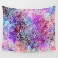 spiritual Wall Tapestries featuring Spiritual Mantra #2 by Diego Tirigall