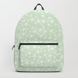 Magical Mint Green and White Stars Pattern Backpack