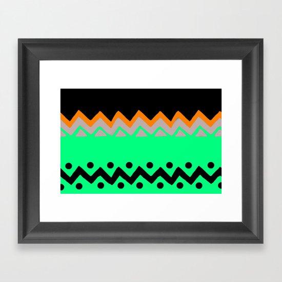 Polygons shape Framed Art Print