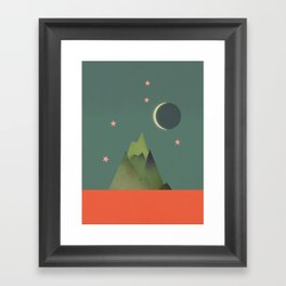 Mountains Under the Stars Framed Art Print