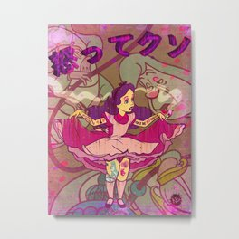 Alice F@!$%! Mad Metal Print