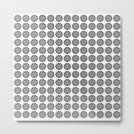 Background abstract, black-and-white pattern, vector, circle texture design. Metal Print