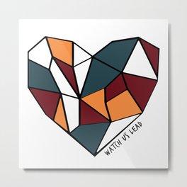 Watch Us Lead (Mosaic Heart) Metal Print