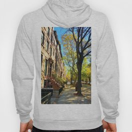 Cobble Hill Brooklyn New York in the Fall, Brownstones Hoody