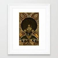 erykah badu Framed Art Prints featuring Erykah Badu by Taylor Francis