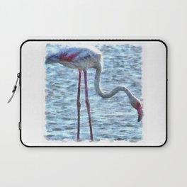 Balance of Nature Flamingo Watercolor Laptop Sleeve