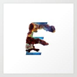 Universe Alphabet E Art Print