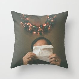 Holidazed Throw Pillow