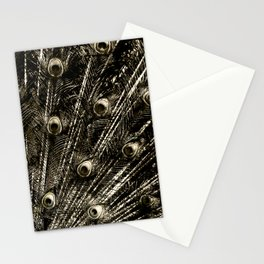 427 8 Steel Peacock Feathers Stationery Cards