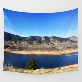 Horsetooth Reservoir Fort Collins Colorado Color Photo Wall Tapestry