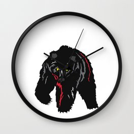 Grizzly Bear Rumbling by the River Wall Clock