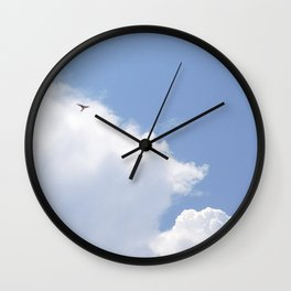 Swallow flying free Wall Clock