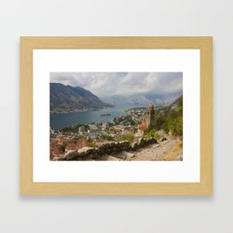 Kotor Panoramic View From The Fortress Framed Art Print