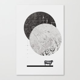 Calculating a Jump over the Moon Canvas Print