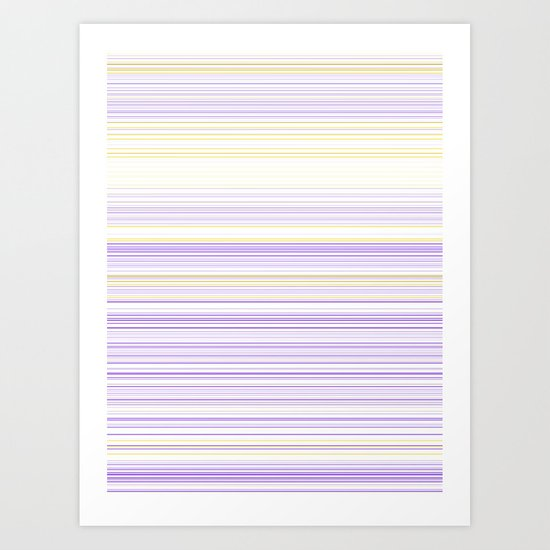 Complementary Stripes Art Print