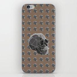 Geometric skulls iPhone Skin
