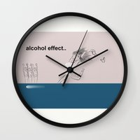 alcohol Wall Clocks featuring alcohol effect by Ilaria Bicchi