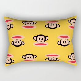 Julius Monkey Pattern by Paul Frank - Yellow Rectangular Pillow