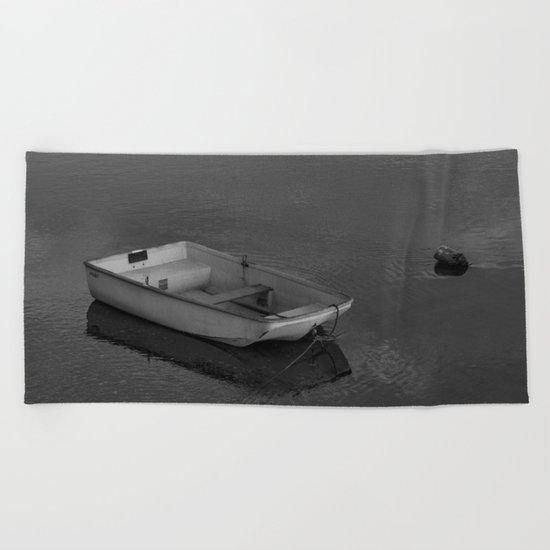Boat B&W Beach Towel