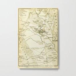 Vintage Map of Sparta Greece (1894) Metal Print