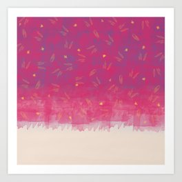 Abstract Beach Drapes Design Art Print