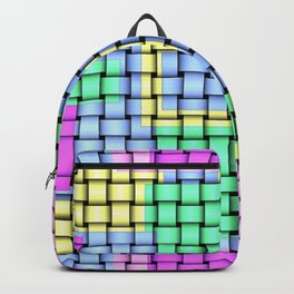 Beautiful Pastel Weave Texture Backpack