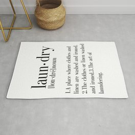Laundry definition | Dictionary word | Laundry print | Instant download | Printable quote | Dictiona Rug