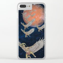 Spartan Soldiers from Mars Clear iPhone Case