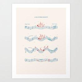 Nautical Notation Art Print