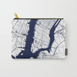New York City White on Navy Carry-All Pouch