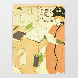 """Henri de Toulouse-Lautrec """"Couverture de l'estampe originale"""" Poster"""