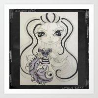 Lowbrow Misfit Calligraphy  Art Print