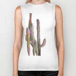 Cactuses in green and pink Biker Tank