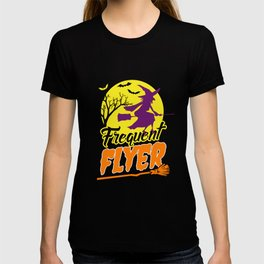 Frequent Flyer Witch Broom T-shirt