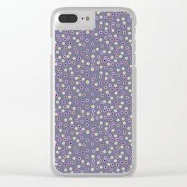 Purple Polka Clear iPhone Case