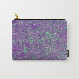 Abstract 25 - Study In Purple And Green Carry-All Pouch