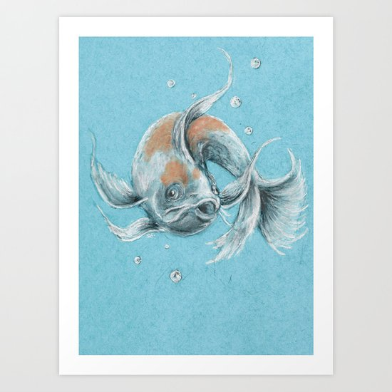 Koi fish art print by daydreamer society6 for Koi fish paintings prints