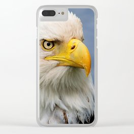 American Bald Eagle Portrait Clear iPhone Case