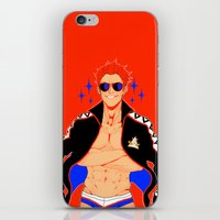 iwatobi iPhone & iPod Skins featuring Captain Speedo by Alyssa Tye